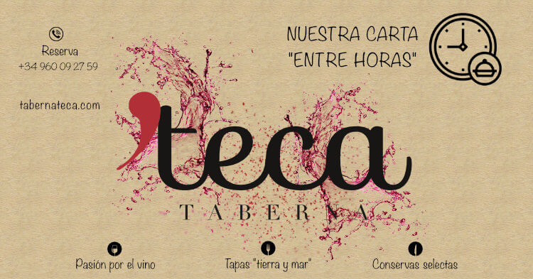 Carta entre horas - Taberna Teca
